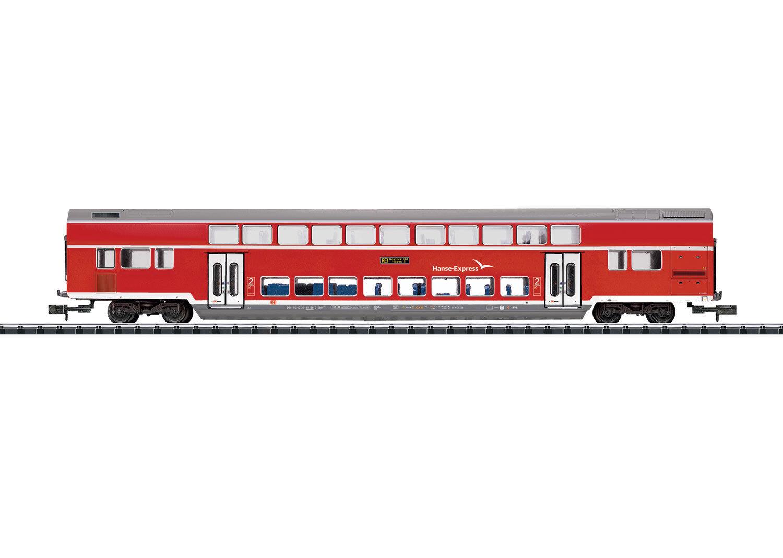 Trix Minitrix 15775 Carrozza a Due Piani   Hanseexpress   DB Ag 2. Klasse