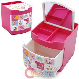 72c8730ec Image is loading Sanrio-Hello-Kitty-Jewelry-Box-Mini-Organizer-Storage-