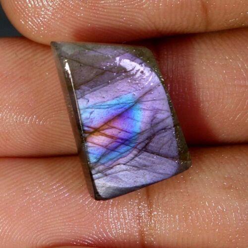 Pear Purple Fire Spectrolite Labradorite Oval FAancy Cab Multi Flash Gemstone