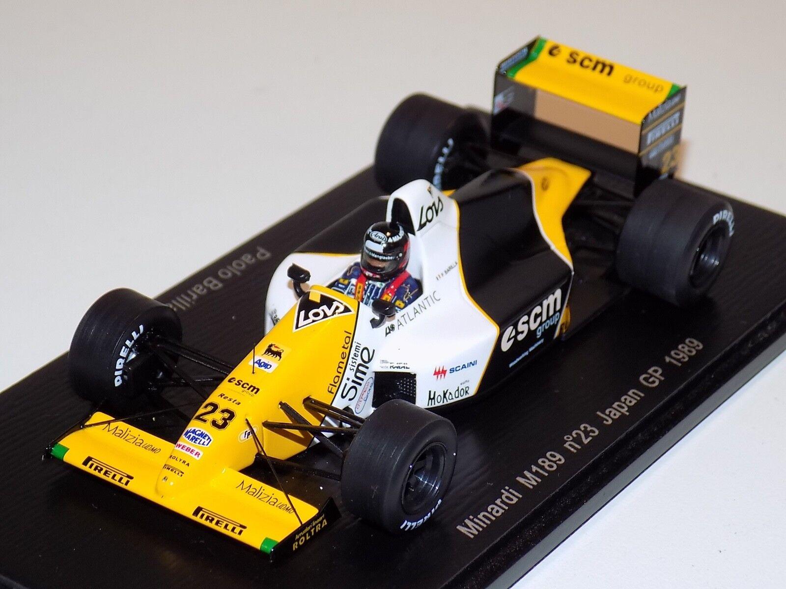 1 43 Spark Spark Spark Minardi M189  car Japan GP Paolo Barilla S4112 807203