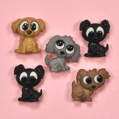 Dog Dogs Puppy DRESS IT UP Buttons Playful Puppies 7687