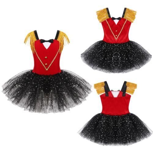 Details about  /Toddler Baby Girls Circus Ringmaster Costume Dancewear Sleeveless Tutu Dress