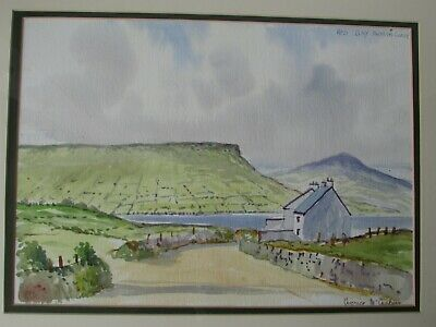 """n. Ireland Antrim Coast"""" Watercolour Painting By Veronica Mccusker """"red Bay"""
