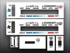 1978-1982 Chevrolet Corvette White Heater Control Overlay HVAC