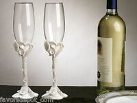 Calla Lily Toasting Flutes Glasses Wedding