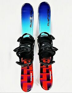 Skiblade-Package-SKIBOARD-PACK-FiveForty-90cm-PANZER-Snow-Blades-and-Bindings