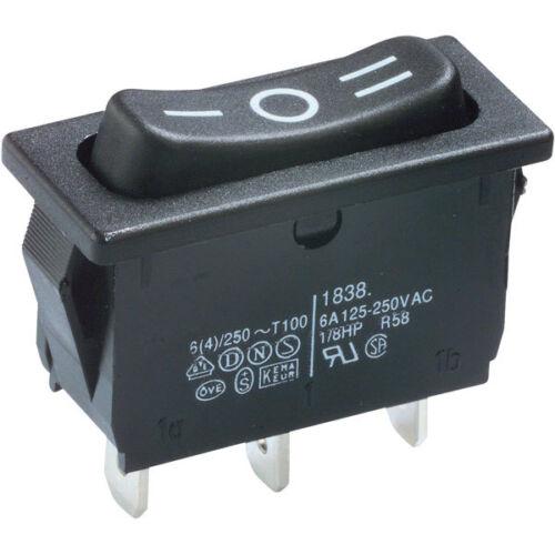 un 4 Marquardt 1838.1509 Rocker Switch inverseurs ON-OFF-ON 250 V AC 6