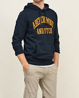 Mens Abercrombie & Fitch Fleece Hoodie / Tops Jacket Size S, M, L, Navy, NWT
