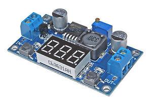 2x Spannungsregler einstellbar DC-DC Abwärtswandler bis 40V//2A mit LED Voltmeter