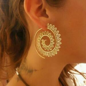 Women-Ethnic-Swirl-Hoop-Earring-For-Brincos-Gold-Color-Geometric-Earrings-Steamp