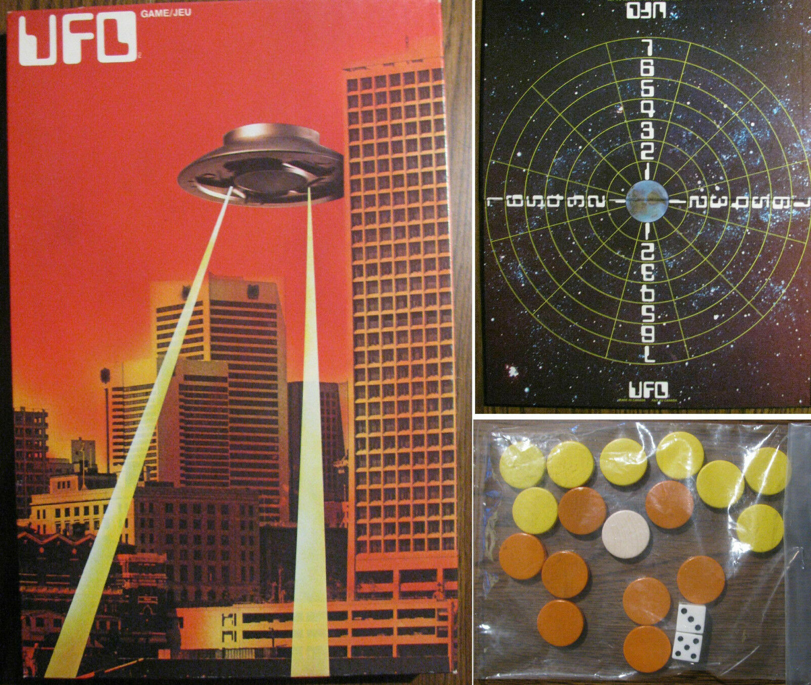 Vintage 1976 UFO Game Gamma Two Games LTD Complete English French Edition  RARE