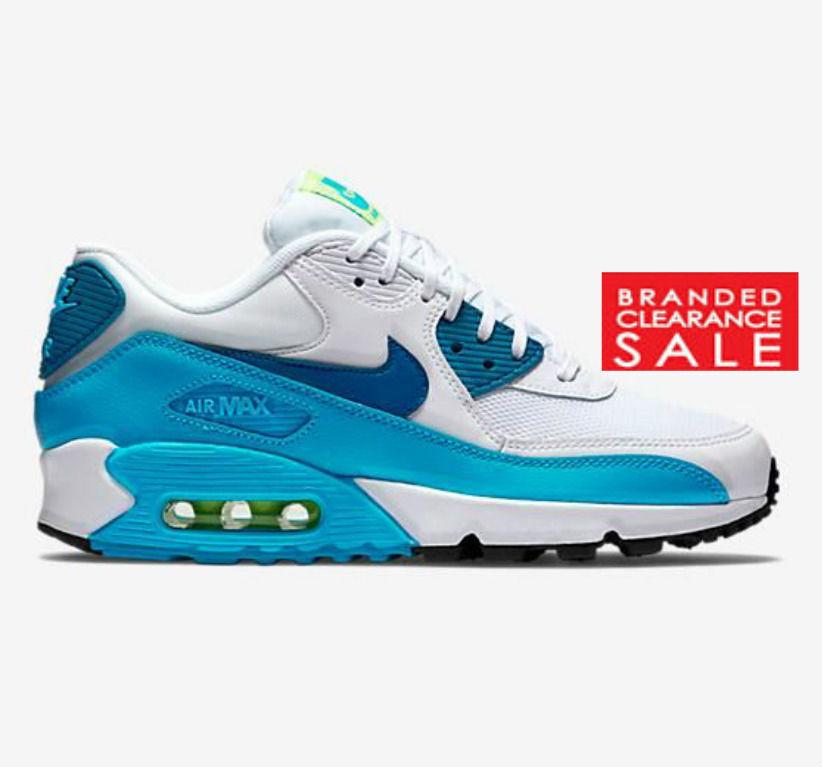 BNIB New Nike Air Max Women 90 Essential PRM 4 blue white size 3 4 PRM 5uk 51ef69