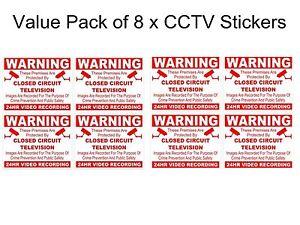 8x-CCTV-ADHESIVOS-camaras-de-Seguridad-Advertencia-Pegatinas
