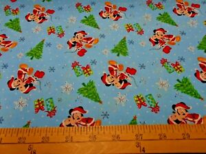 Disney Christmas Fabric By The Yard.Details About 1 Yard Disney Mickey Minnie Christmas Love Fabric