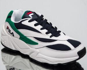 Fila-Venom-Basse-Nouveau-Hommes-Mode-De-Vie-Chaussures-Blanc-Bleu-Marine-2018-Baskets-1010255-00Q