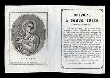 santino incisione 1800 S.LUCIA V.M. salvardi