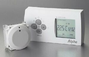 Alpha easy stat 7 day 2 channel radio frequency controlled room.