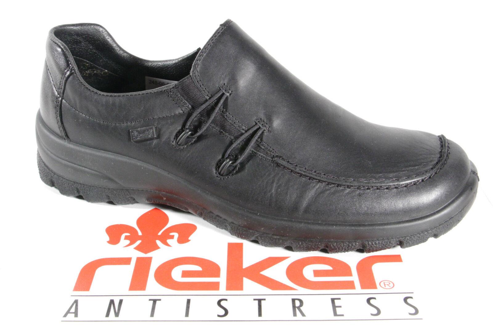 Rieker Tex Slipper scarpe Trainers Leather nero  L7180 NUOVO  la vostra soddisfazione è il nostro obiettivo