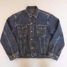 Mens WRANGLER Indigo Dark Blue Vintage Denim Trucker Jacket Medium #A2757