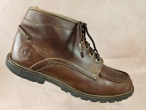 Details about Timberland Mens Ankle Boot Size 11.5 Brown Leather Moc Toe 5628