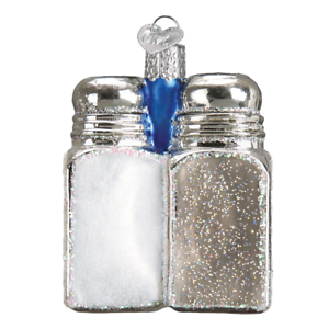 Old-World-Christmas-SALT-amp-PEPPER-Shakers-32300-N-Glass-Ornament-w-OWC-Box