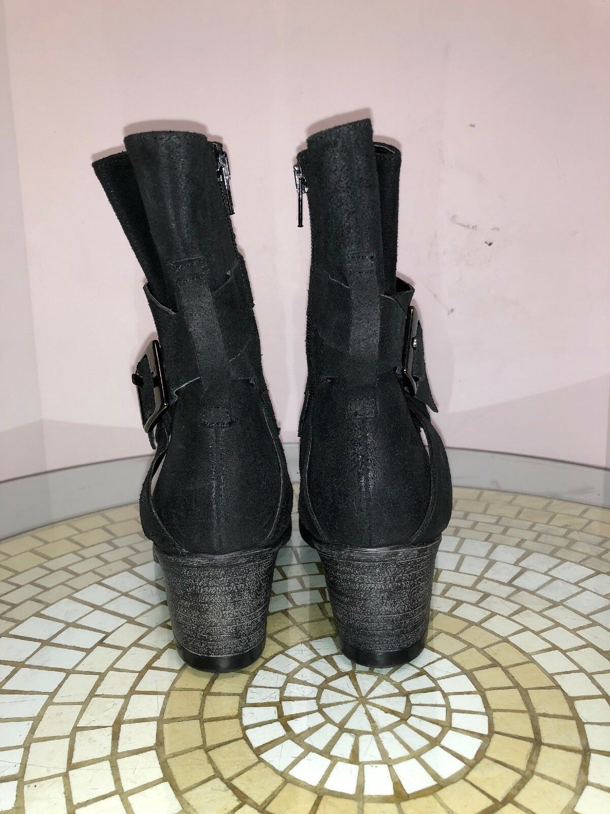 CARVELA KURT GEIGER damen Distress Blk Blk Blk leather Side Zip ankle Stiefel sz. 36 NEW ed28b6