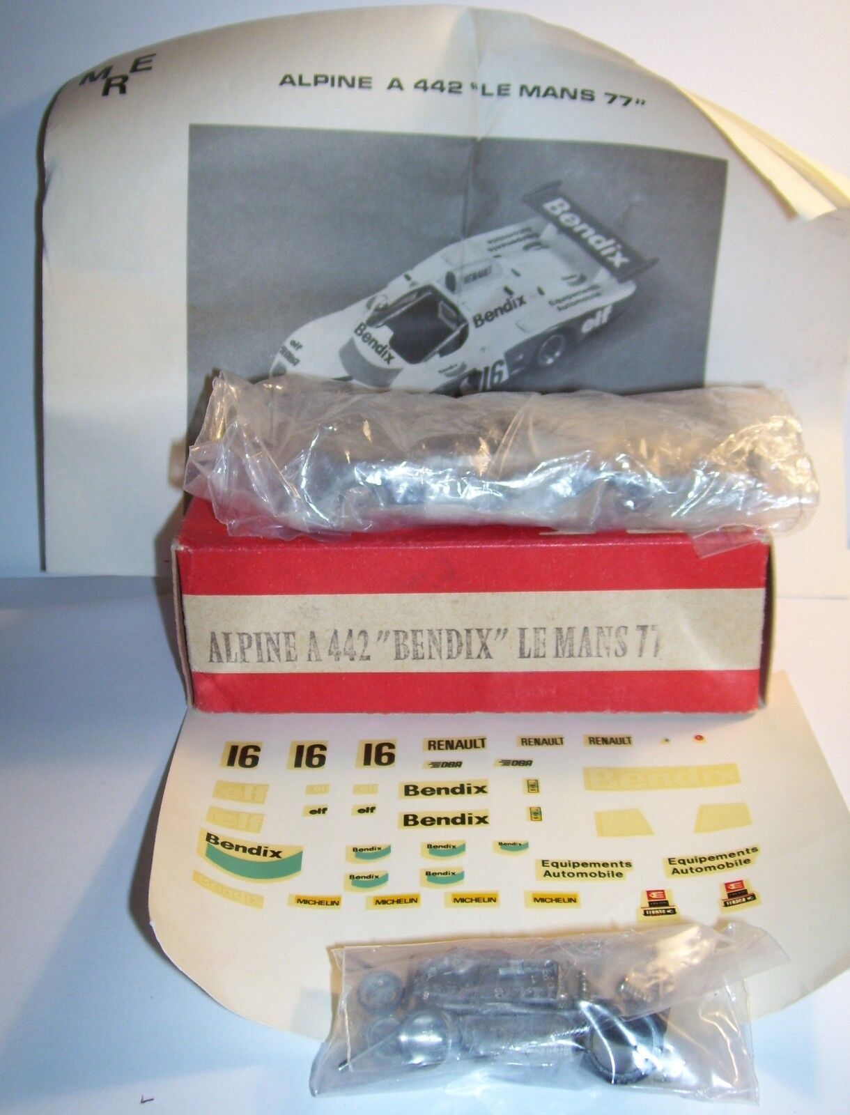 RARE KIT METAL MRE RENAULT ALPINE A 442 BENDIX LE MANS 77 1 43 IN BOX