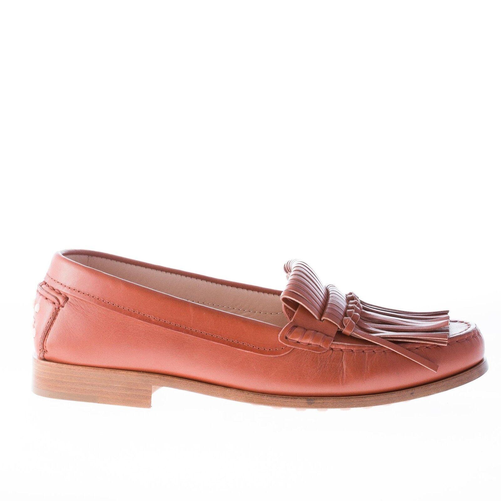 TOD'S scarpe donna donna donna Donna scarpe Mocassino in pelle cuoio con   253085