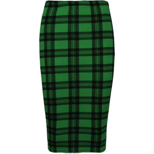 New Womens Ladies Printed Stretchy Pencil Bodycon Midi Tube Plus Size Skirt UK