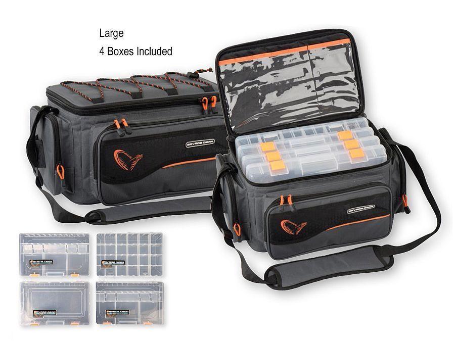Savage Gear System Box Bag / S, M, M, M, L / Praktische Tasche / inkl. Boxen 5272df