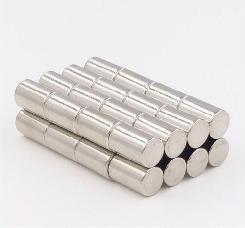10 Neodym Mini-Magnete Scheiben-Magnete5x8 mm rund extra-starke Haftkraft