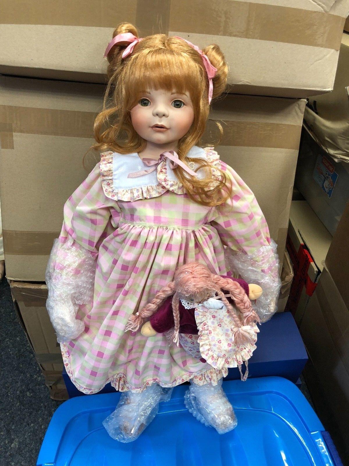 Monika peter leicht ⭐  ⭐ bambola di porcellana 70 cm. ⭐ ⭐ ottimo stato  risparmia il 60% di sconto