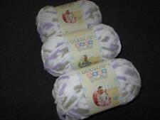 Bernat Baby Blanket Super Bulky Yarn Lot of 3 Skeins Little Lilac Dove 3113