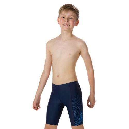 SPEEDO BOYS SWIM JAMMERS.GALA LOGO PANEL ENDURANCE NAVY BLUE SHORTS SWIMMERS 9S