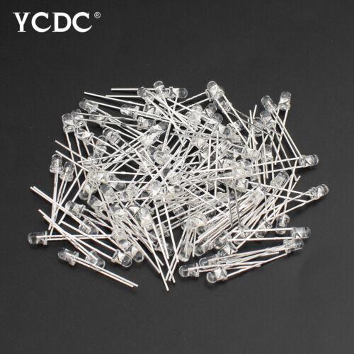 3mm 5mm LED Diode Kit Ultra Bright LEDs Lights Emitting Diodes 100Pcs//Lot 9E95