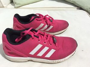 purchase cheap 749f9 f54d9 Details about Ladies adidas zx flux torsion trainers size uk 3 Pink And  White