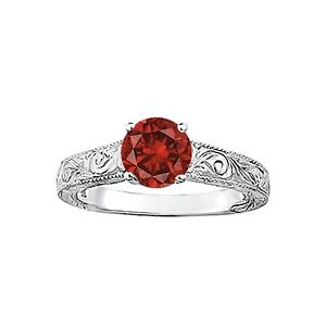 1cts-Gorgeous-Sparkling-Red-Diamond-Solitaire-Ring-14k-WG-Valentineday-Spl-Sale