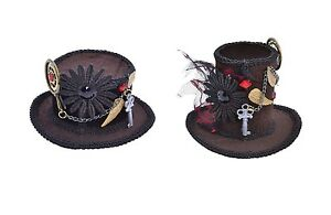 VICTORIAN-amp-EDWARDIAN-STEAMPUNK-TOP-MINI-HATS-FANCY-DRESS-COSTUME-ACCESSORY