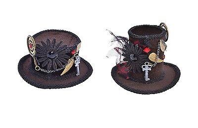 #VICTORIAN & EDWARDIAN STEAMPUNK TOP MINI HATS FANCY DRESS COSTUME ACCESSORY