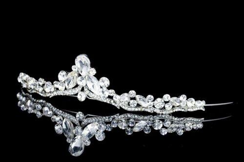 Elegant Bridal Floral Rhinestone Crystal Wedding Prom Crown Tiara 71035