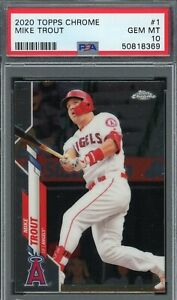 Mike Trout Los Angeles Angels 2020 Topps Chrome Baseball Card #1 PSA 10 GEM MINT