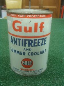 Vintage Gulf Anti Freeze Summer Coolant Tin Can Gas Oil Can Sign Unopened Ebay