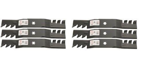 "6 Copperhead Mulch Blades Fit 942-04053C 50/"" RZT Deck Zero-Turn Mower 742-04053B"