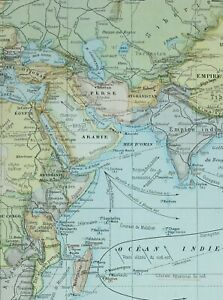 Map Of India And Africa.1905 Map Indian Ocean Arabia Persia India Africa Chinese Empire