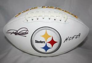 Rod-Woodson-Autographed-Pittsburgh-Steelers-Logo-Football-W-HOF-JSA-W-Auth