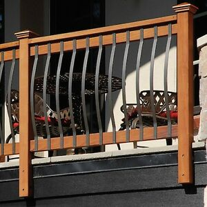 Image Is Loading Curve Arc Aluminium BLACK Metal Balusters X5 Deck