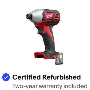 "Milwaukee 2850-80 M18 Brushless 1/4"" Impact Driver (Tool) Certified Refurbished"