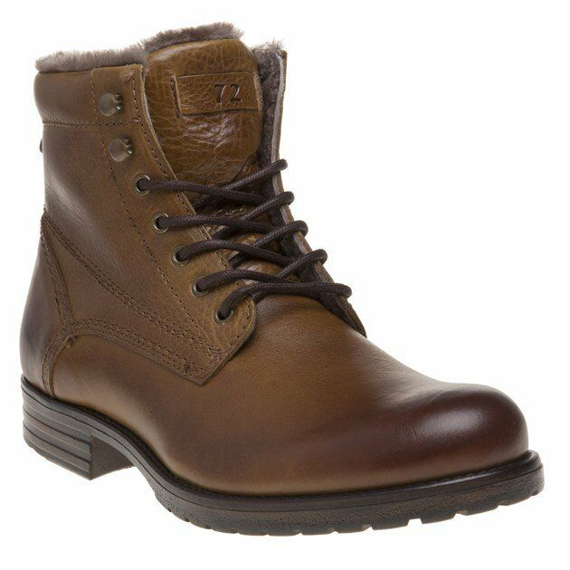 New Mens SOLE Tan Burford Leather Boots Lace Up