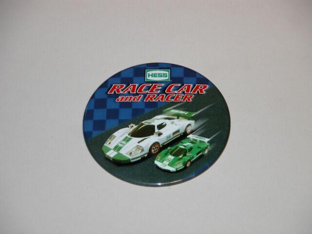 HESS 2009 RACE CAR AND RACER CASHIER BUTTON MINT & REGULAR 2009 BAG