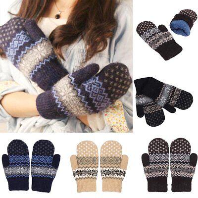 1~5 Dozens Christmas Winter Gloves Thermal Wool Knit Ski Xmas Wholesale Lots